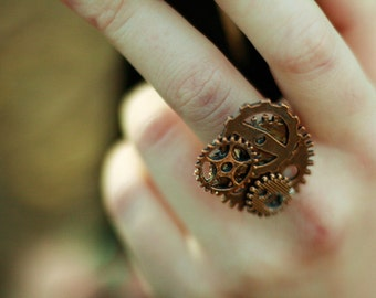 Brass Steampunk Ring