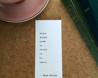 Type Writer Bookmarks: Emma Watson
