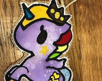 Crown Unicorn Applique Embroidery Design