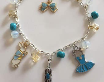 Natural Turquoise, Opal, and Citrine Bracelet