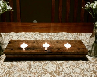 Barn Wood Centerpiece