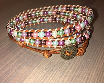 Multi-color Wrap Bracelet