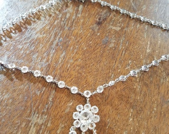 Vintage wedding crystal necklace