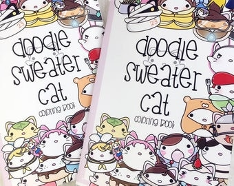 Doodle Sweater Cat Coloring Book