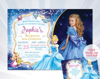 cinderella invitation cinderella birthday party invitation