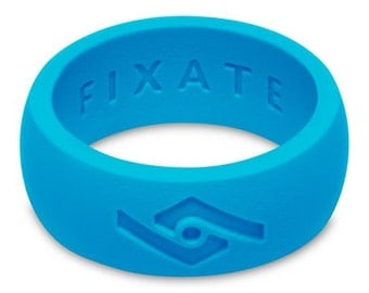 Fixate Designs Men's Neon Blue  FX8 Silicone Wedding Ring