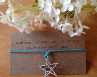 In life everyone has shining stars, thank you for being one of mine bracelet