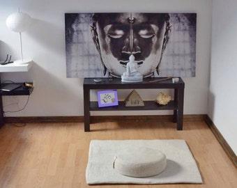 Meditation Set, Meditation Cushion, Zafu Cushion, Zabuton Mat, Meditation Cushion, Floor Cushion, Buckwheat pillow, Wool felt sheet, Yoga