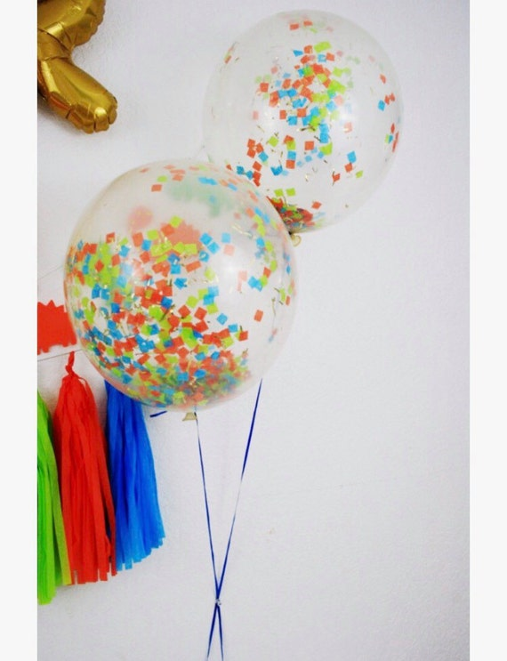 Confetti balloons 18 clear with confetti photoshoot prop for Baby confetti decoration