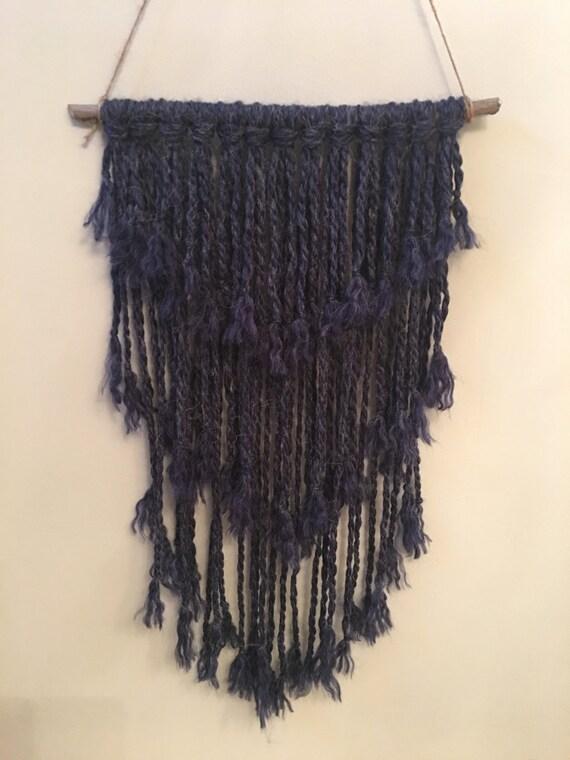 Ingigo textured wall hanging