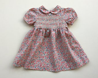 Dress with flowers print - 6/12m