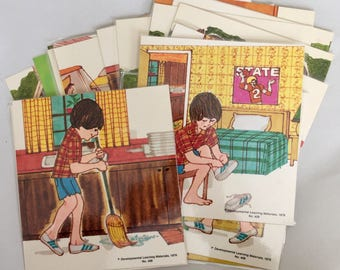 Developmental Learning Materials Flashcards, Flash Cards, Teaching Flashcards, Ephemera Educational, Illustration Picture Cards