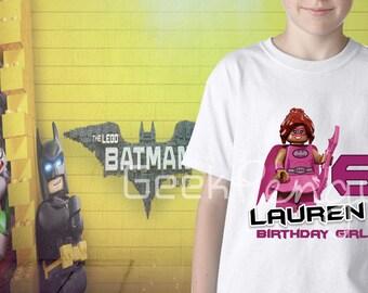 Lego Batgirl Birthday, Lego birthday shirt, Lego batgirl party, Lego for girls, Lego Party, Lego birthday shirt,