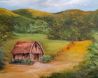 Barn In Green Countryside