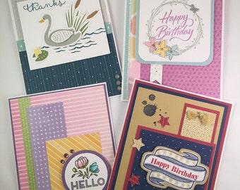 Handmade Greeting Card Assortment, Masculine Birthday, Feminine Birthday, Thanks, Hello, Everyday cards, all occaions cards