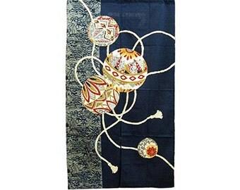 Made in Japan Cotton Cloth Noren Tapestry Temari Design