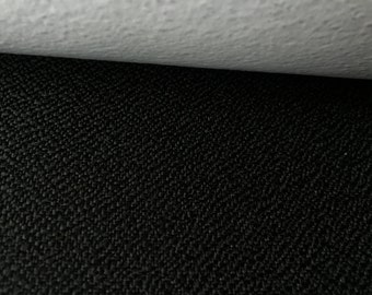 Black Black Upholstery Fabric - By The Yard