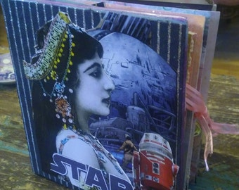 Galactic Star Wars themed Junk Journal eclectic mix of star wars characters & more