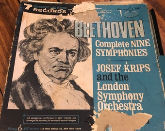 Vintage Beethoven Complete Nine Symphonies , Josef Krips and the London Symphony Orchestra , 7 Records , Classical Music , Vintage Records
