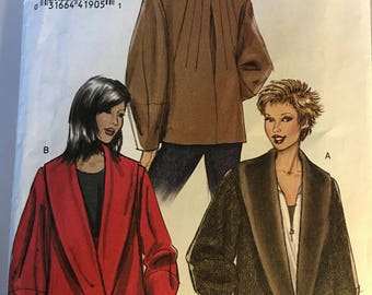 V8431 Ladies Outwear Lined Jacket Pattern Sizes 12-16 Easy Level