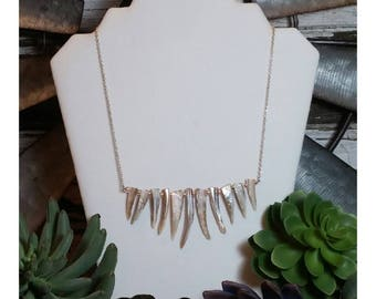 Jagged stone bead necklace