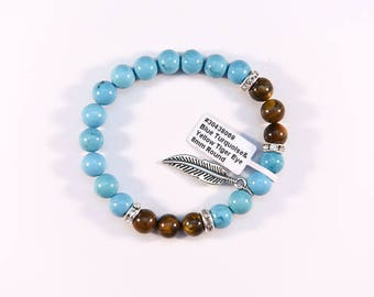 Turquoise and Tigers eye Bracelet.
