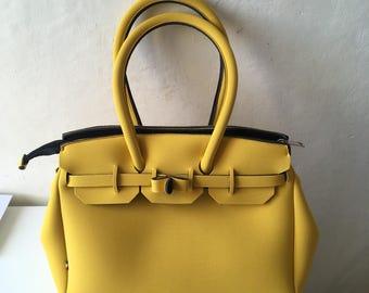 Bag fabric, neoprene, handmade