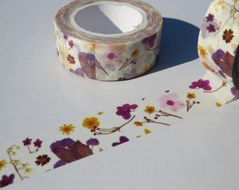 Purple Flowers Washi Tape / A Pretty Purple Floral Masking Tape