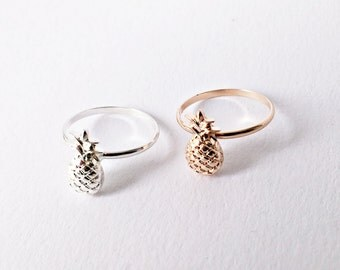 Pineapple Ring SILVER, Minimalistic Rings