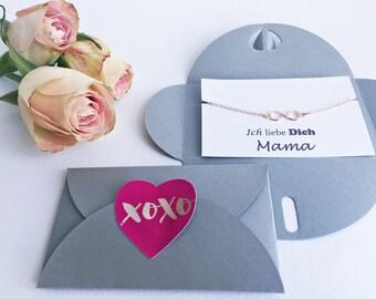 I Love You Mummy Gift: Bracelet + Card