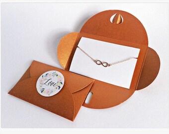 4x Infinity Bracelet ROSÉGOLD // COPPER Packaging
