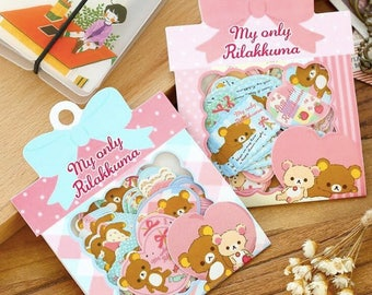 Rilakkuma paper stickers seal flakes cute kawaii bears
