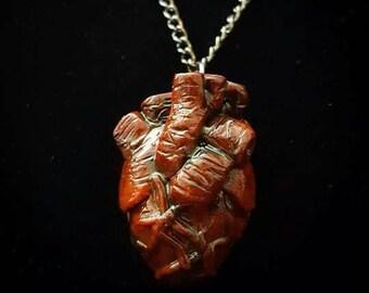 I Give You My Heart~ Anatomically Correct Heart Pendant Anatomical Human Organ Necklace