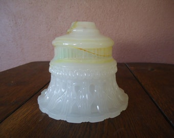 Vintage glass - Vintage Wall Sconce Light cover - Old painted glass - Vintage light cover - Old glass shade - DIY Lighting - Detailed glass