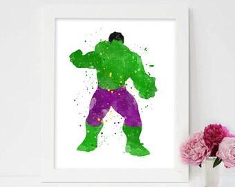 Avengers Poster, Hulk Print, Avengers Print, Marvel Poster, Nursery Print, Kids Print, Superheroes Poster