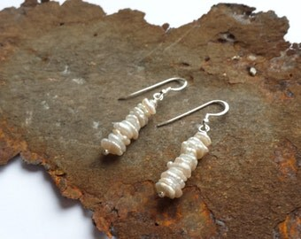 Pearl Earrings with silver elements 925 Silver