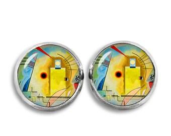 Wassily Kandinsky Stud Earrings Kandinsky Earrings Art Jewelry