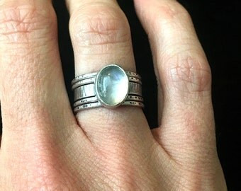Made to Order Moonstone Stacking Ring Set - Moonstone Ring - Stackable Rings - Skinny Stackers - Polaris Ring Set
