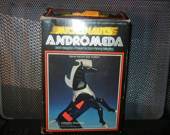 Mego Micronauts Andromeda Horse Complete With Box 1970's Action Figure