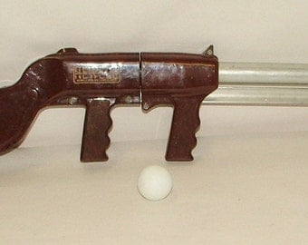 Vintage Ping Pong Ball Toy Gun 25 Inches Long!!! Great Vintage Look!