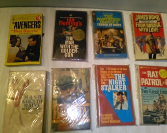 Vintage Book Lot Great Books Stored In Plastic****1950's-1970's*******