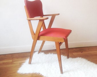 "Red vintage chair ""Pinsk"""