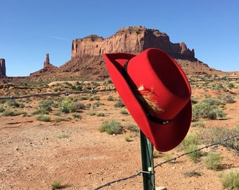 Red Outback Trading Co Western Cowboy Hat