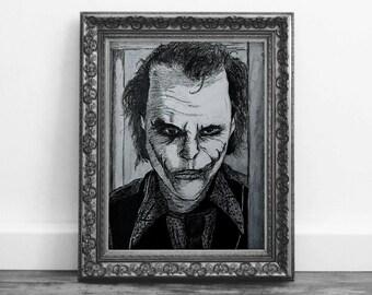 Heath Ledger The Joker From The Dark Knight Wall Art