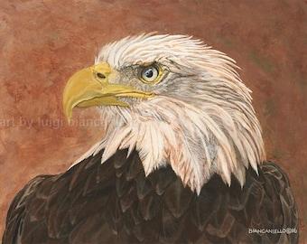 Eagle,Eagle Art, Eagle paintings,Eagle Print,Patriotism, Bald Eagle,Bird painting, Wildlife Art,Wildlife Prints,Eagles,Eagle Portrait.