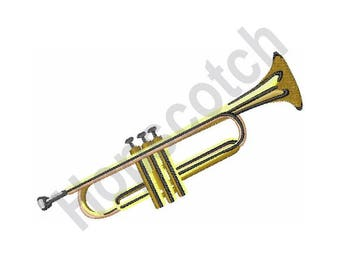 Brass Trumpet - Machine Embroidery Design