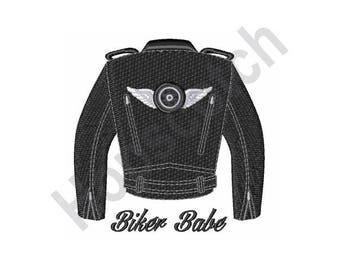 Biker Babe - Machine Embroidery Design