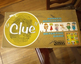 Vintage 1963 Clue Detective Board Game by Parker Brothers