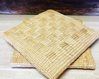 Woven rattan Cushions / Wicker Cushions / Set of two