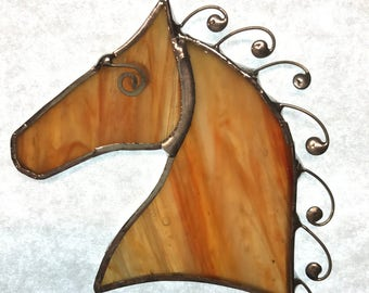 Stained Glass horse with custom curly mane